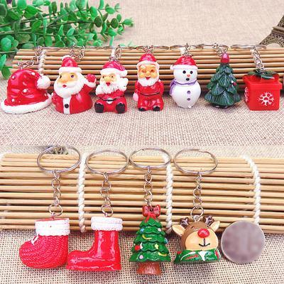 Xmas Gift Christmas Decor Tree Ornament Santa Claus Doll  Bag Pendant Key Chain