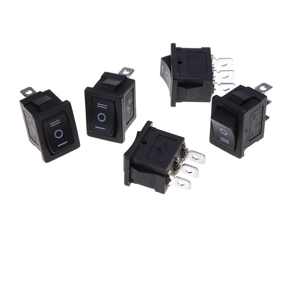 20Pcs 3Pin Black ON-OFF-ON 3 Position Rocker Switch 15A//250V 20A//125V SPDT