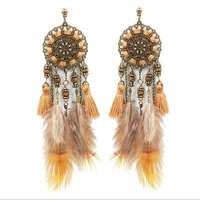 Fashion Bohême Franges Tassel métal Boucles d/'oreilles Stud Dangle Femme Bijoux Cadeau