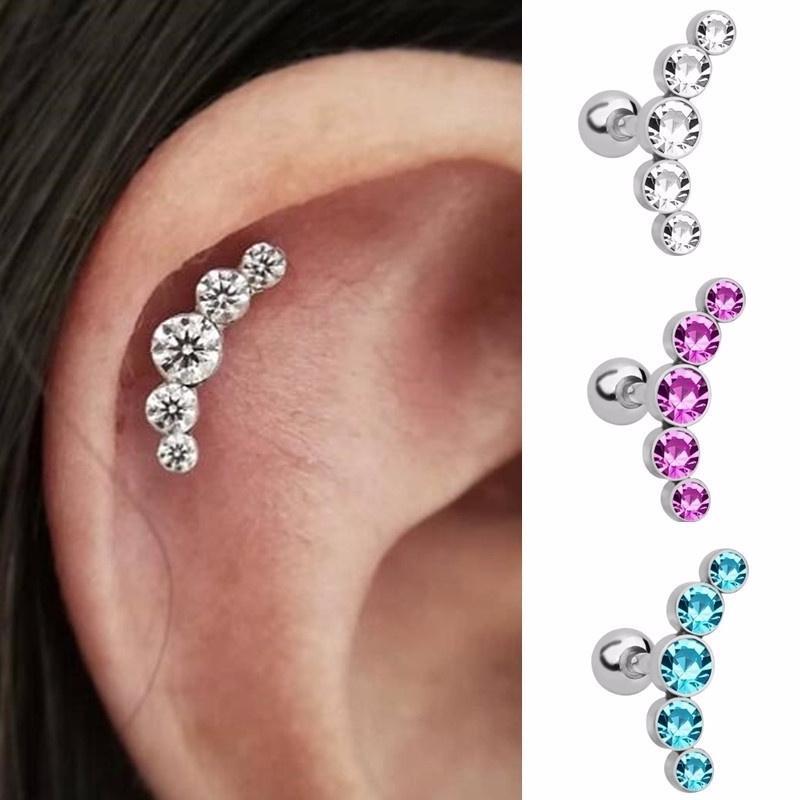 No Allergic Reaction galaxyjewelry MOON n STAR Surgical Steel Pierced Earring Stud