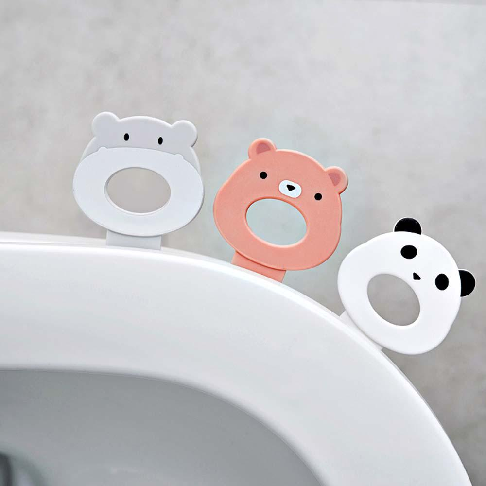 Cute Home Toilet Seat Lifting Lid Opener Avoid Touching Clean Handle Lifter WE