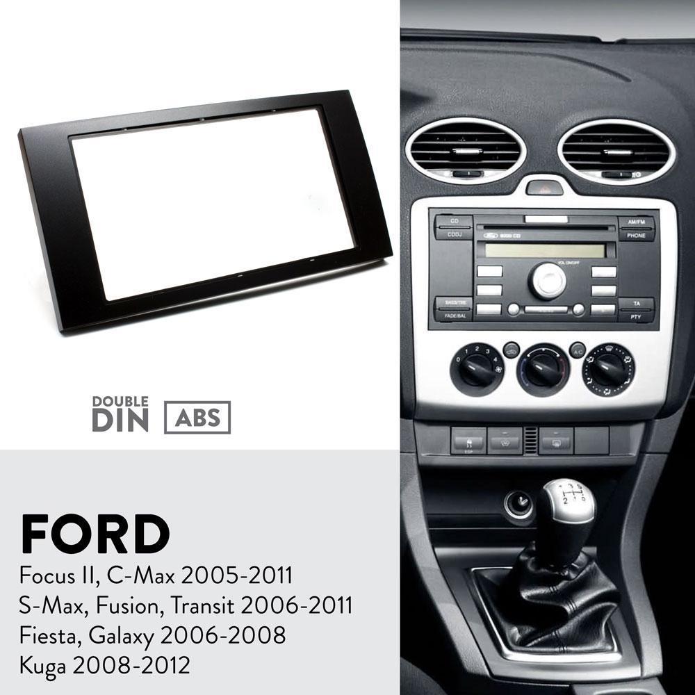 Single din car radio stereo kit fascia adapter Ford C-Max Focus Fiesta S-Max Galaxy Fusion Transit 1 din Kuga