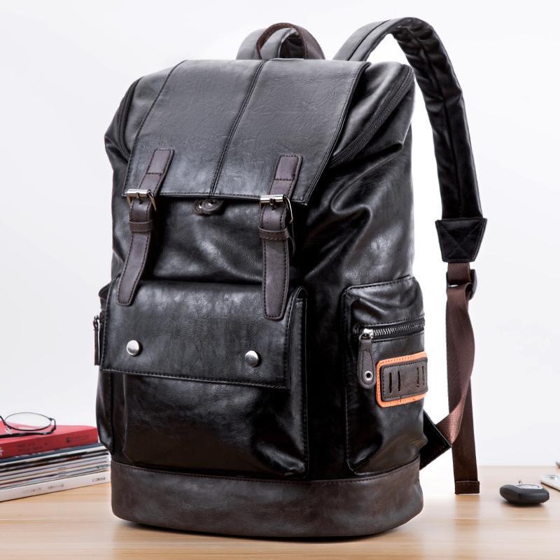 Зимняя мужская повседневная сумка через плечо, рюкзак из искусственной кожи, модная дорожная сумка в стиле ретро, большой емкости купить недорого — выгодные цены, бесплатная доставка, реальные отзывы с фото — Joom