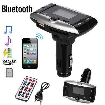 LCD Auto Car Kit BT MP3 Player FM Transmitter Modulator SD MMC USB Remote Music