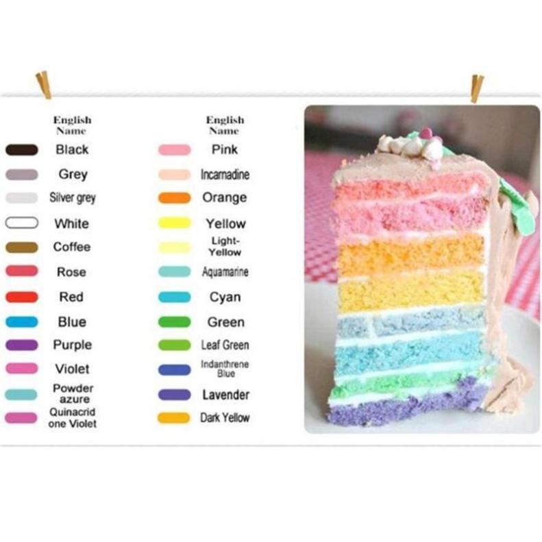 12 colores América crema comestible para hornear pastel de Fondant ...