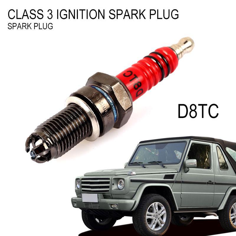 3Pcs D8TC 3 Electrode Spark Plug for CG 125 150 200cc CF250 Motorcycle Scooter ATV Quads Spark Plugs