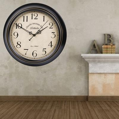 1pc Wall Clock Creative Metal Frame Large Mute Retro Hanging Household Clock Without Battery Buy At A Low Prices On Joom E Commerce Platform
