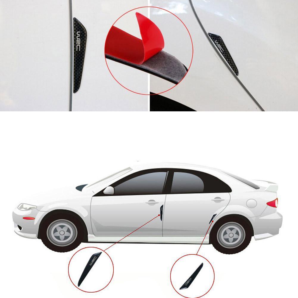 Seite Kantenschutz Streifen Kante Wache Antikollisions Kohlefaser Auto Tür