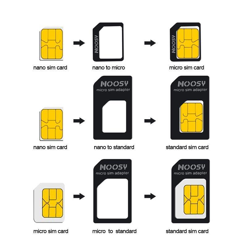 4 In 1 Nano SIM Card Micro SIM Adapters Standard SIM Card Pin For Iphone 7 8 4S 5 5s 6 6S XS Max ...