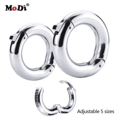 Adjustable Male Penis Cock Rings Ejaculation Delay Rings Stainless Steel Cock Rings