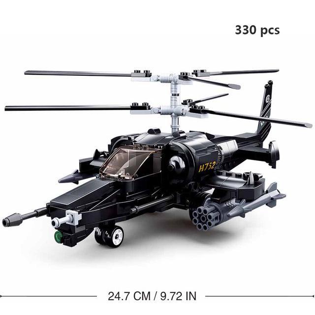 Military Series Set WZ10 Gunships Helicopter Building Kit No Original Box