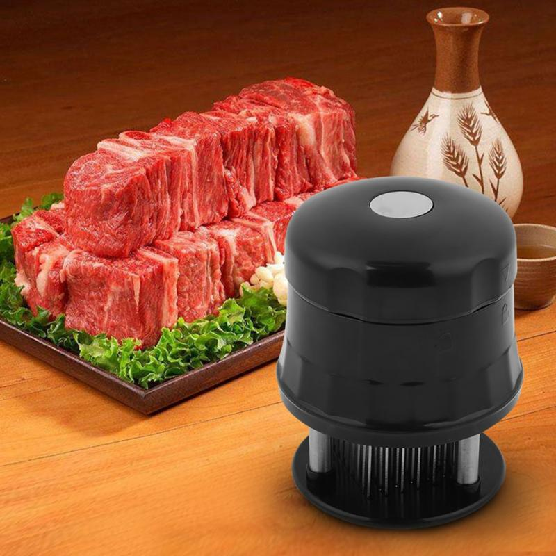 Kitchen Stainless Steel Meat Tenderizer Needle Prong Steak Cooking Barbeque 1Pc