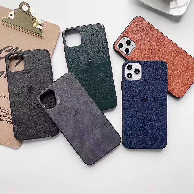 Ultra Тонкая тонкая кожа есть логотип Мягкий телефон Защита Обложка для iPhone 11 Pro Max XR 8 SE 2020 фото