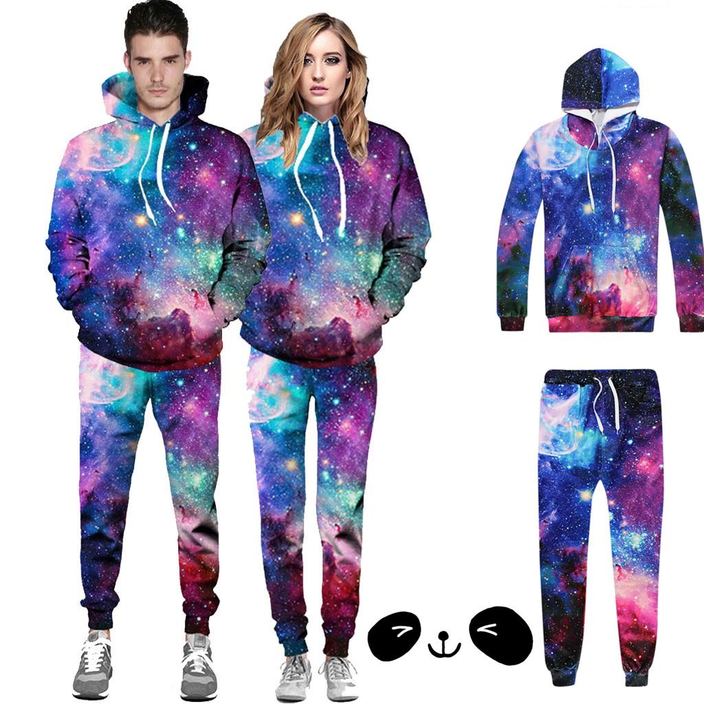 Rick and Morty Men/'s Full Tracksuit Set Sweatshirt Hoodies Pants 2Pcs Sport Suit