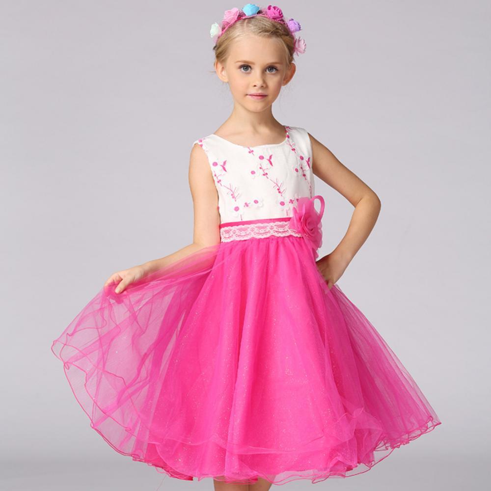 Las muchachas de flor vestido princesa moda verano boda sin mangas ...