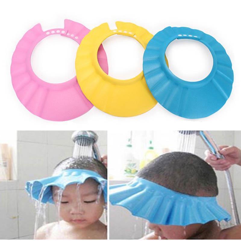Adjustable Baby Shower Cap Child Kids Shampoo Bath Hat Wash Hair Shield Buy At A Low Prices On Joom E Commerce Platform