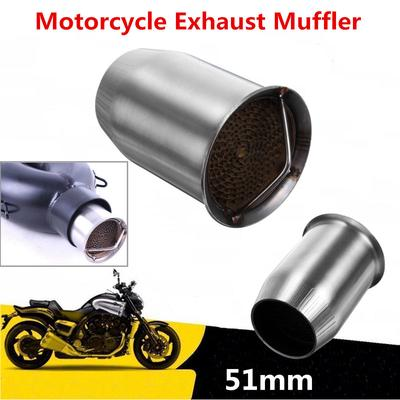 Universal 51mm//60.5mm Exhaust Muffler Pipe For Motorcycle No DB Killer Silencer