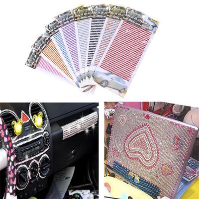 750pcs set 3mm DIY Phone Car PC Decor Self-Adhesive Crystal Rhinestone  Stickers 5f6c196b2fc3
