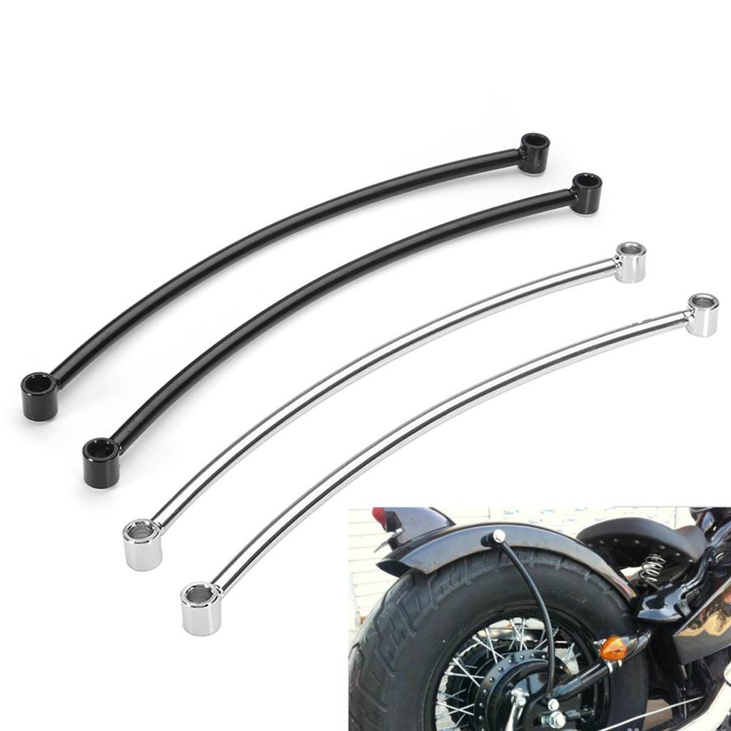 Chrome Rear Fender Rail Support Bracket Mount Holder for Harley Custom