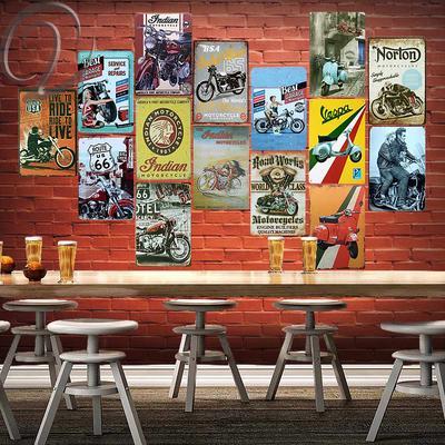 Retro Scuffed Rusty Metal Sign License Garage Wall Poster Decor Bar Home Plaque