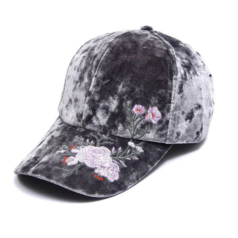 Moda mujer sombreros invierno terciopelo gorro flor bordado béisbol gorras  sombreros populares de Hip Hop - comprar a precios bajos en la tienda en  línea ... 8026d821131