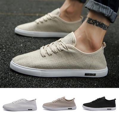 24c6e7762 3 цвета мужской моды сплошной цвет Холст обувь и случайные летом обувь  Пекин традиционных 39-