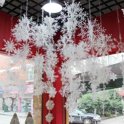30PCS White Snowflake Christmas Ornaments Party Home Decor