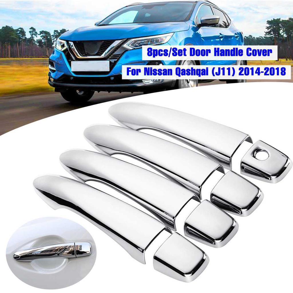 8pcs Chrome Door Handle Cover Trim Molding For Nissan Rogue Sport 2017 2018