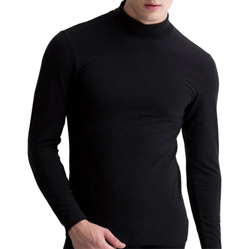 Fashion Mens Slim Fit Turtleneck Long Sleeve Muscle Tee T-shirt Casual Tops HOT