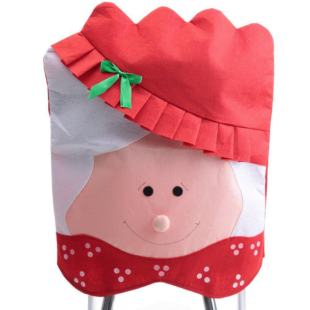 Cubierta con señora Papá Noel para la decoración de la cena de la ...
