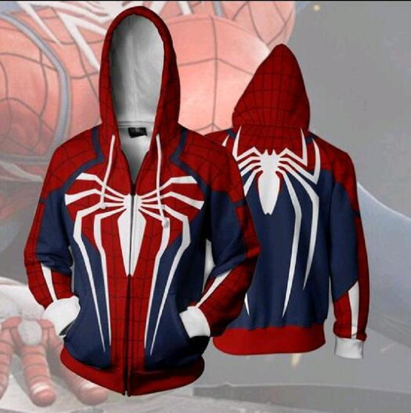 Film Scarlet Spider Man sweat à capuche Sweatshirts Zipper Veste Manteau Cosplay Costume