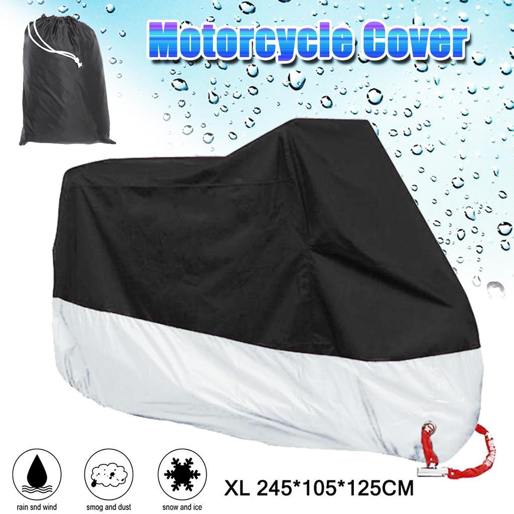 Motorcycle Cover FULL Black M Waterproof Bike Outdoor Rain Dust UV Protector Hot