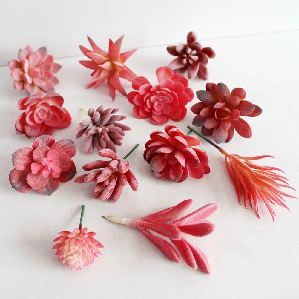 Simulation Succulent Plants Artificial Flowers Lithops Red ...