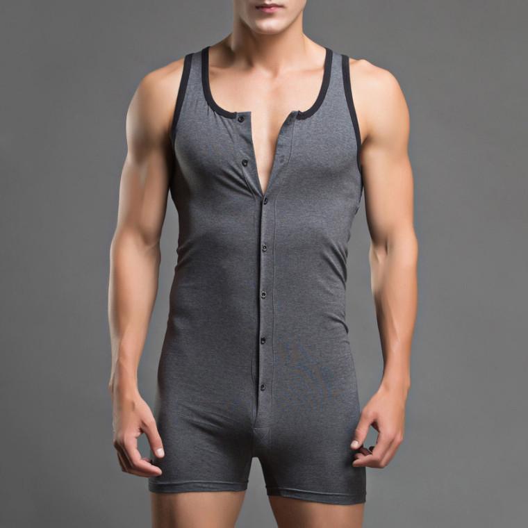INCERUN Mens Leotard Bodysuit One Piece Top Wrestling Singlet Jumpsuit Underwear