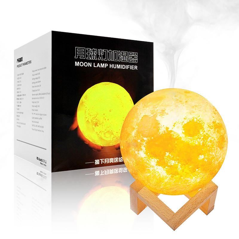 880ml Air Humidifier 3d Moon Lamp Light Diffuser Aroma Essential Oil Usb Ultrasonic Buy At A Low Prices On Joom E Commerce Platform