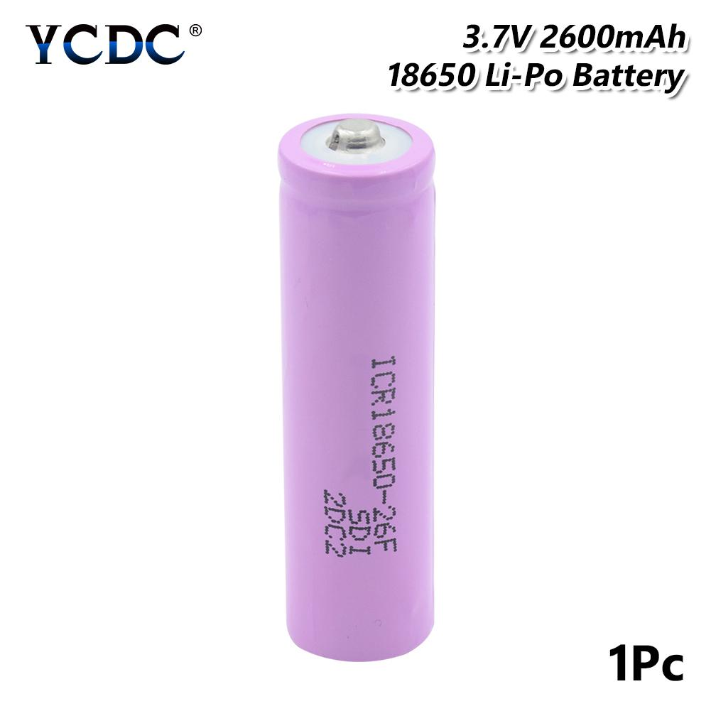 ,6 Pack 9800mAh 3.7V Li-ion 18650 Battery Rechargeable Battery Button Top for Led Flashlight not AA//AAA Battery