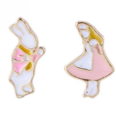 Bonsny lapin boucles d/'oreilles Bunny Bijoux Charm Dangle Drop Animal Dangle Femmes