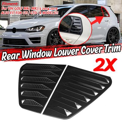 carbon fiber Rear Window Spoiler,Rear Window Side Wing,2pcs Rear Window Spoiler Side Wing Trim Cover Car Vehicle Modification Fit for MK7 GTD R 2014‑2018