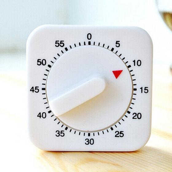 Новизна Белая площадь 60-минут Механический таймер напоминание подсчета для кухни – купить по низким ценам в интернет-магазине Joom
