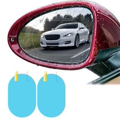 Rearview Mirror Anti-fog-car Waterproof Film-Car w Universal Car License Holder Number Plate Frame Full Carbon Fiber License Plate holder