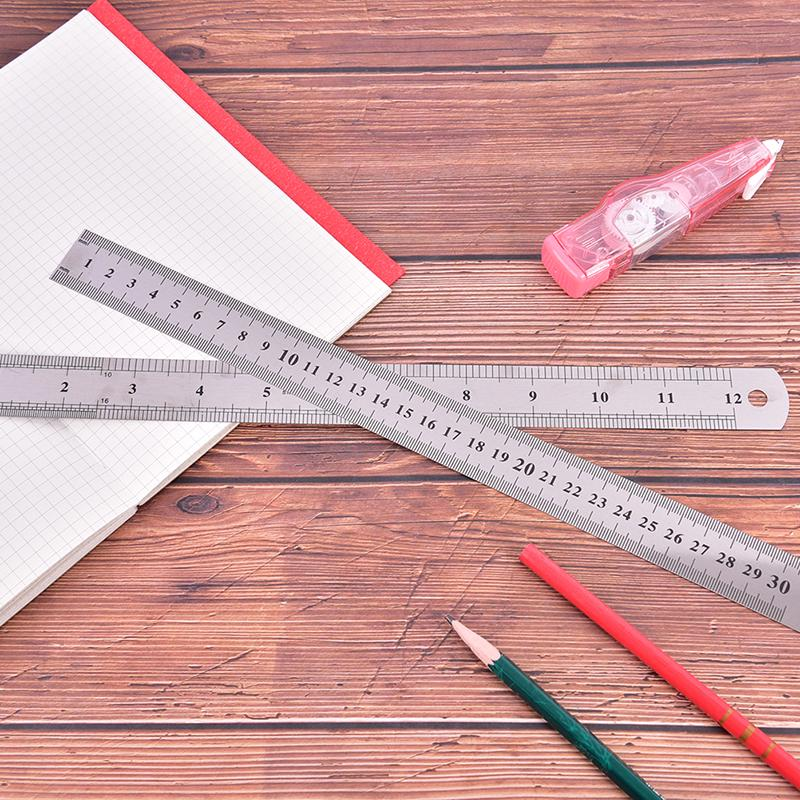 12 inch METAL RULER Stainless Steel Straight Edge Drawing Cutting Non Skid Back