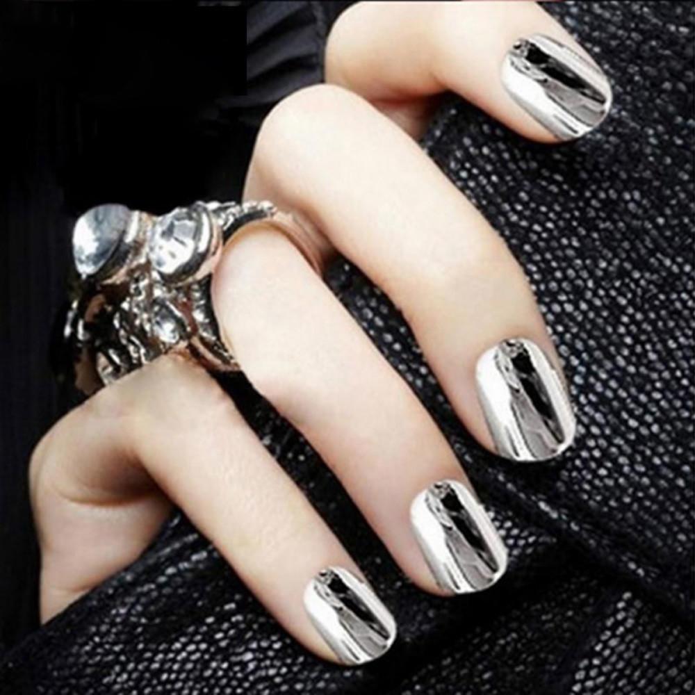 Mujeres DIY espejo polvo efecto cromo uñas pigmento pulimento del ...