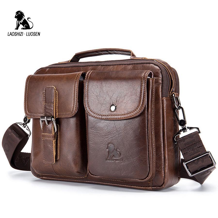 c6ba2b336fcd Кожаные мужские сумки старинный мужской бизнес через плечо сумка – купить  по низким ценам в интернет-магазине Joom
