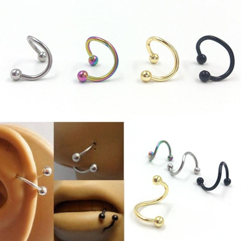 Spiral nose ring