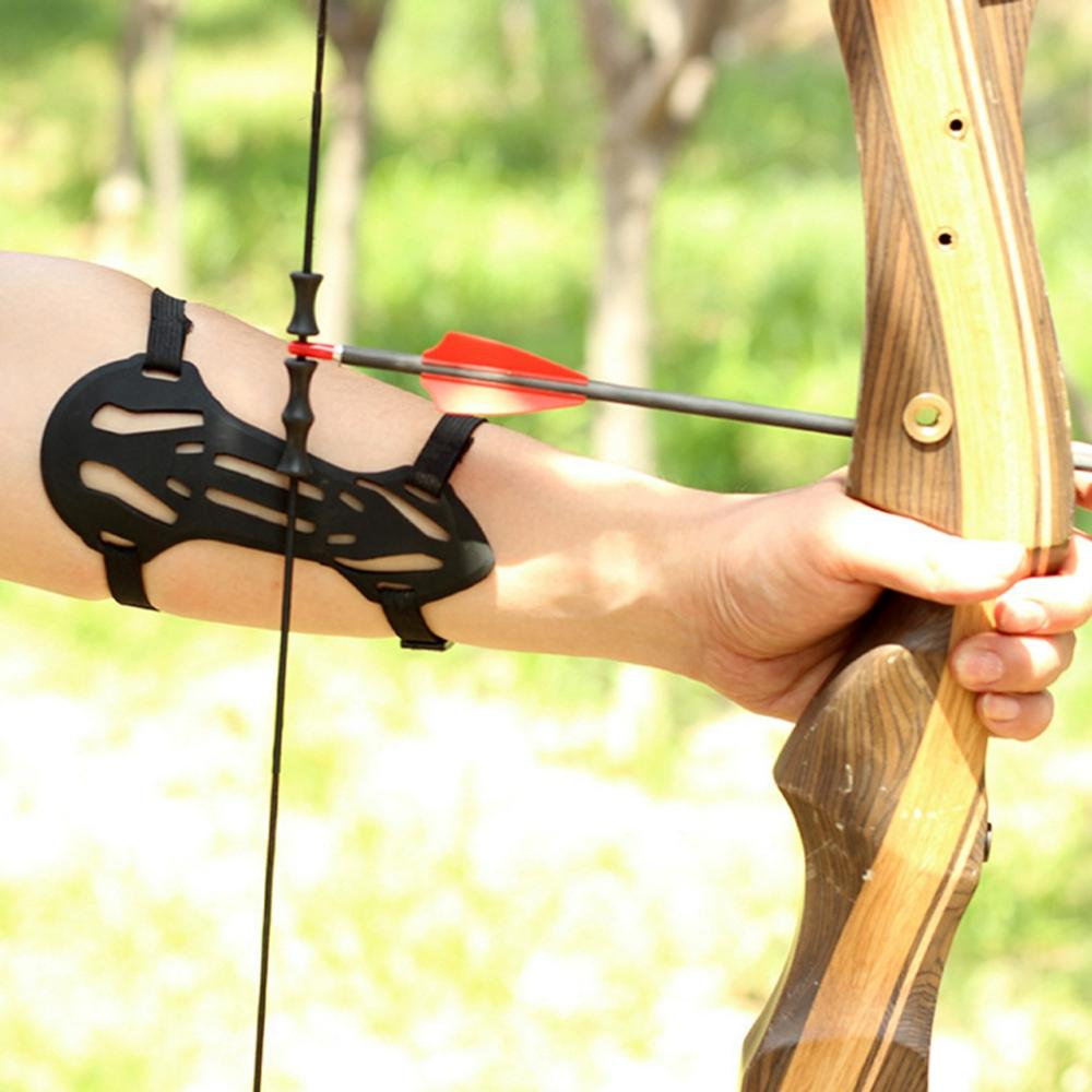 Bow Archery Arrow Armguards Soft Rubber 2 Strap Shooting Target Forearm Protector Archery Arm Guard Protection Safe Strap Armband