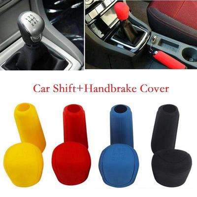 uxcell Rose Red Soft Silicone Nonslip Car Manual Gear Shift Lever Knob Protective Cover