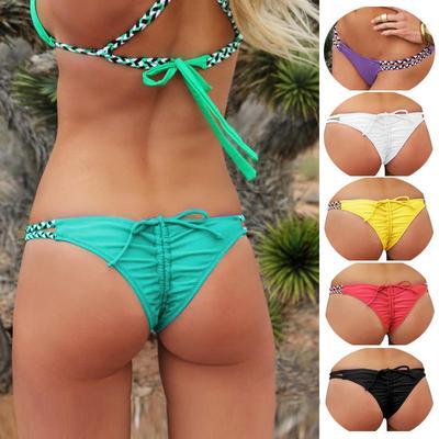 380f1599fb60 Fondo descarado brasileña Sexy Bikini tanga acanalada calzoncillos ...