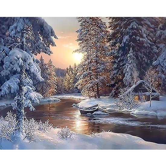 Winter Horse Oil Painting Picture By Numbers Kit Canvas Home Decoration DIY Gift