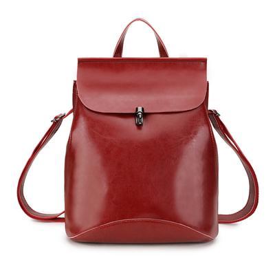 8b79e7e115c3 Подлинная кожа Женские рюкзаки рюкзак дамы путешествия сумка женская школа  большой back пакет сумка