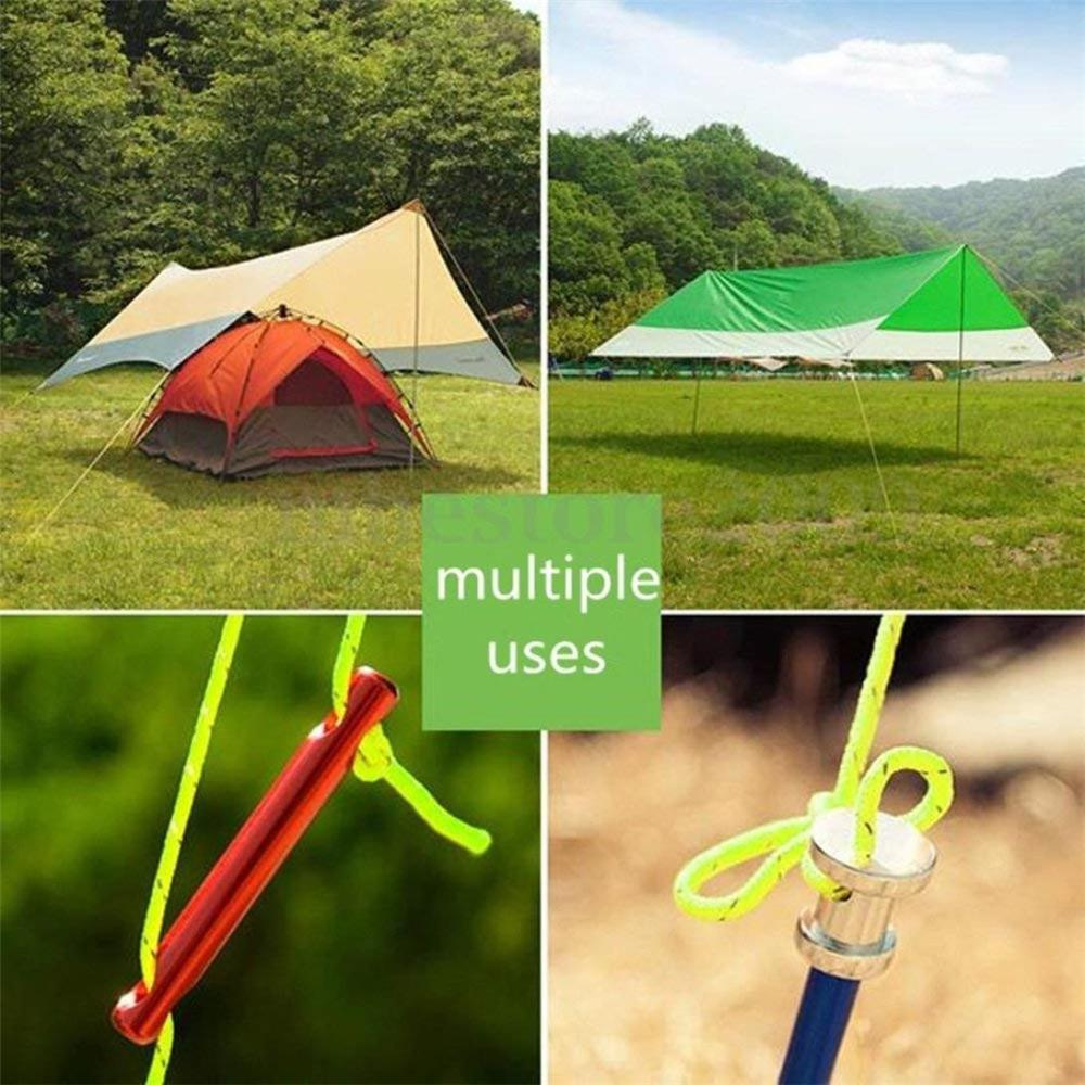 10m GLOW IN THE DARK Rope Tent camping hiking awning washing line green yellow